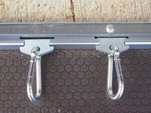 Kit rails acier 1m + mousquetons