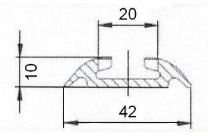 Rail Aero Aviation 1/2 rond -2x1M