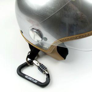 Mousqueton sécurisé pour casque