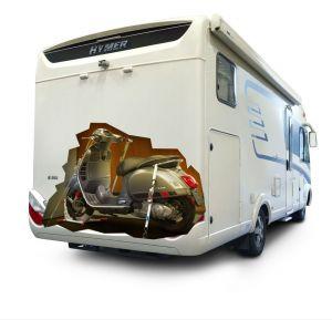 bloque roue scooter pour soute camping car
