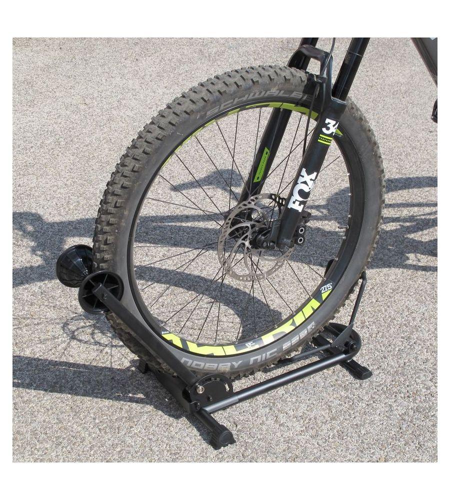 Fixation Pour Velo Garage bloque roue vélo à pneus larges - immobiliser, attacher vélop vtt e-bike  cruiser vtc | akxion shop