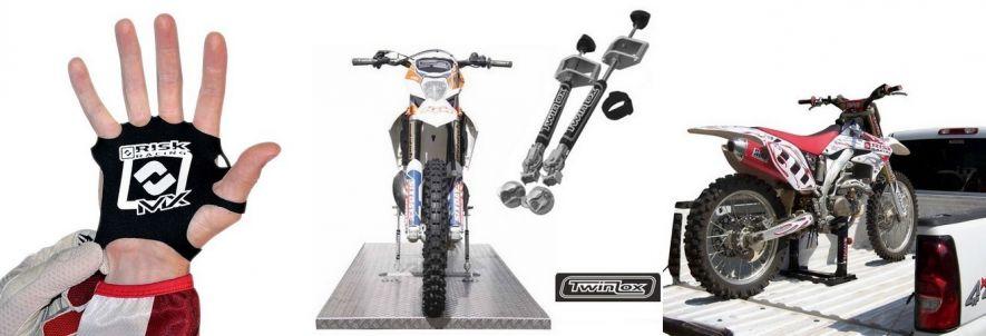 Transport, arrimage, levage : produits pour moto tout terrain